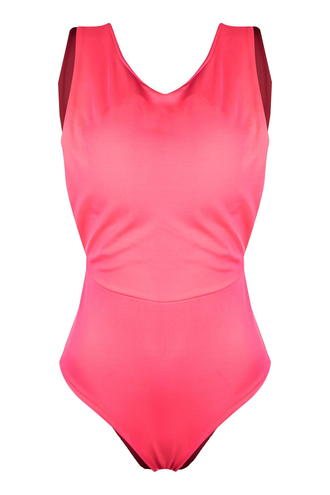 Body Outlet Dri Alça Grossa Neon Color Verão Decote Costas Rosa Neon