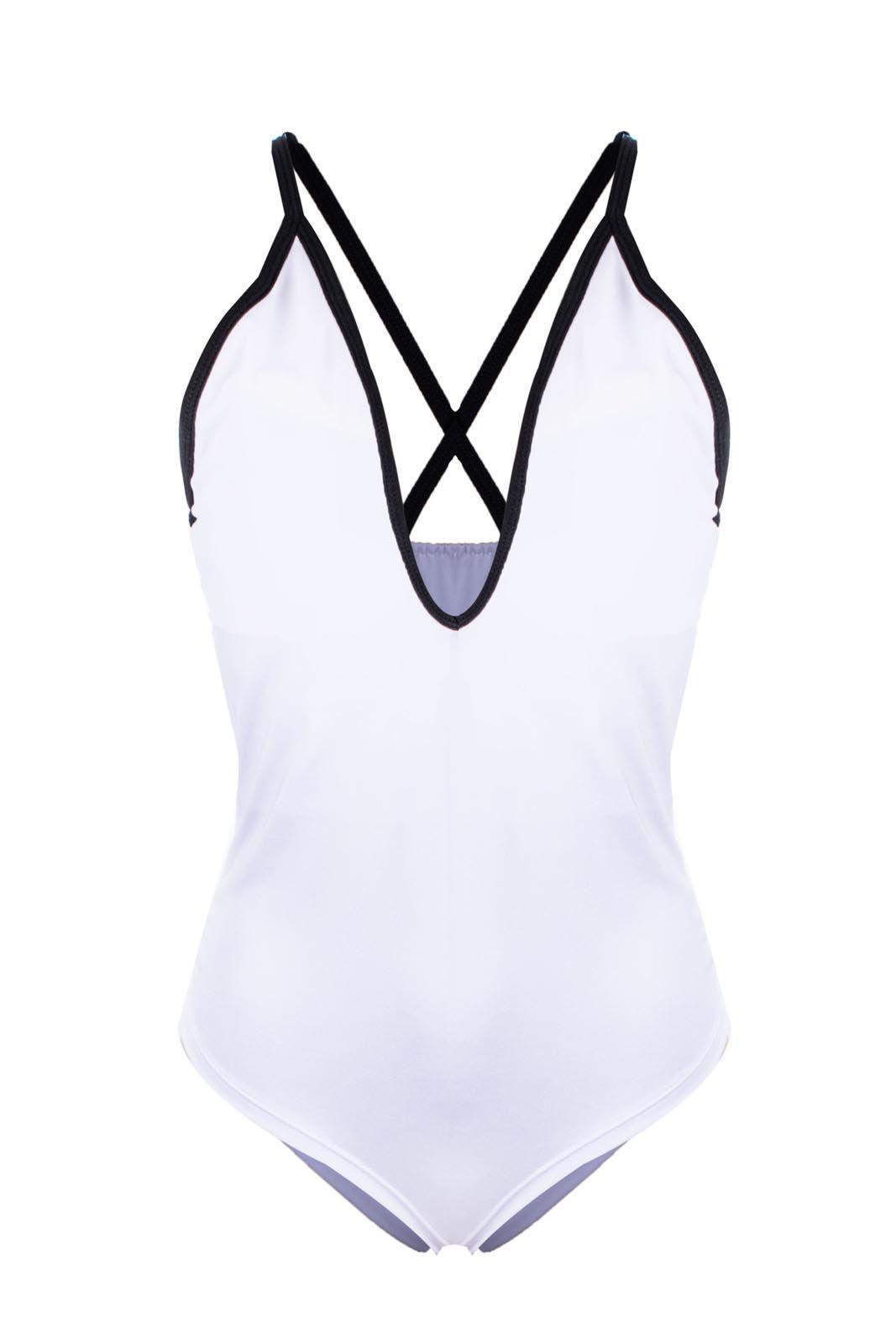 Body Outlet Dri  Suplex Detalhe Decotado Gola X Tirinhas Branco