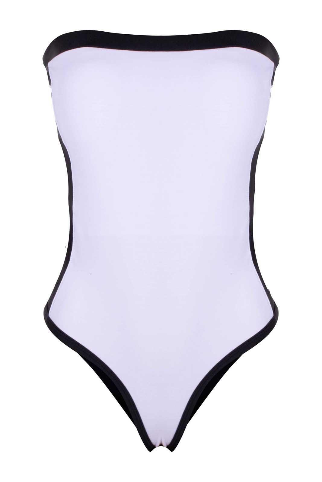 Body Outlet Dri Tomara Que Caia BM Branco com Preto