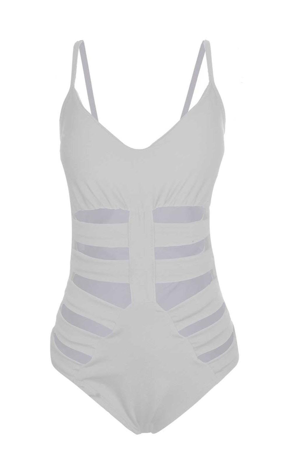 Body OutletDri Com Recorte Lateral Branco