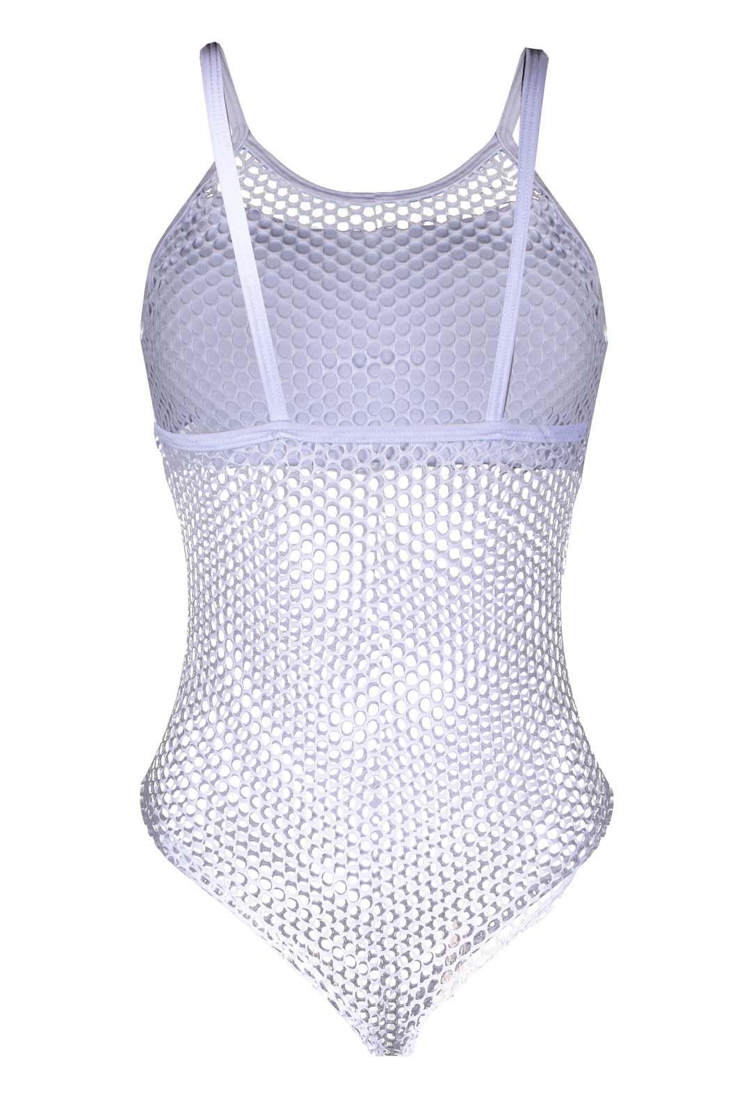 Body OutletDri Feminino Arrastão Furadinho Top Reto Branco