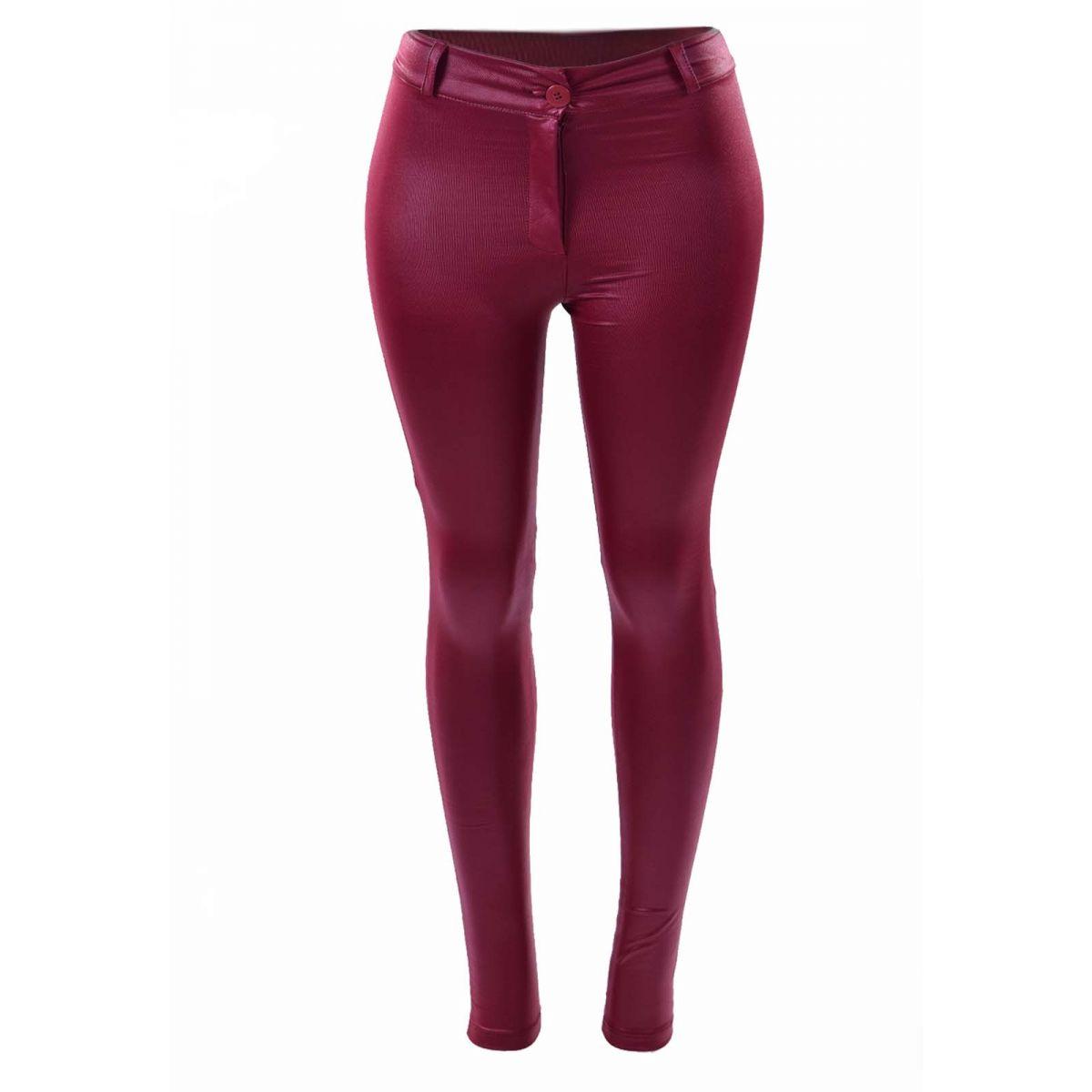Calça Legging Disco Pants Hot Pants Cirre Courino Não Jeans