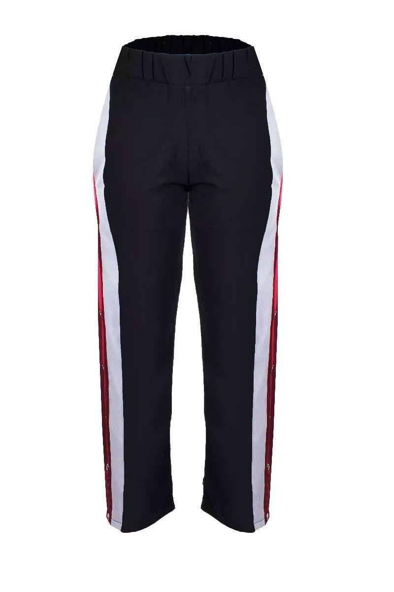 Calça Viscose Pantalona Detalhe Tricolor Metalizado Tic Tac