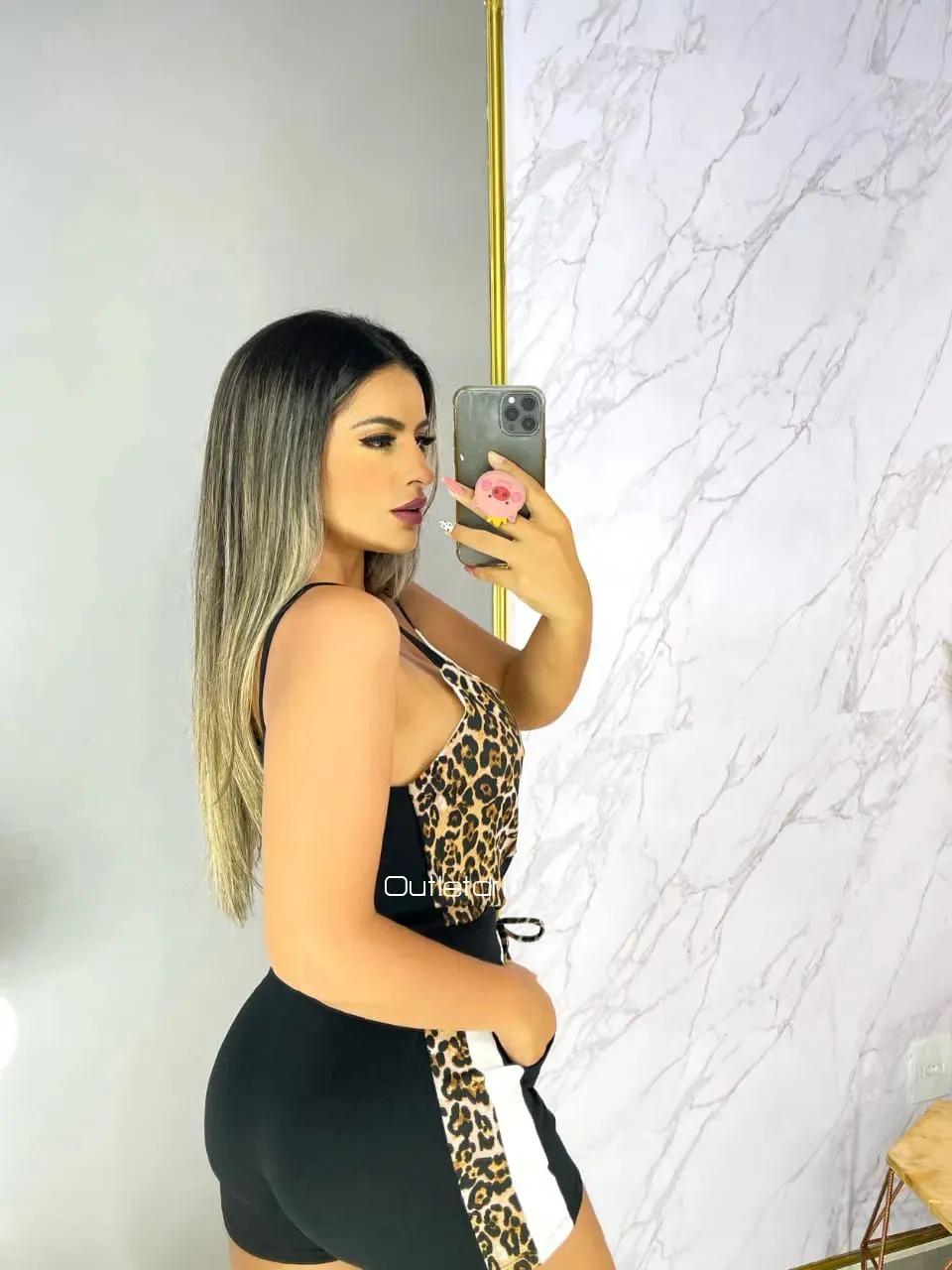 Conjunto Blusa Blusinha Regata E Shorts Malha Crepe Promoção