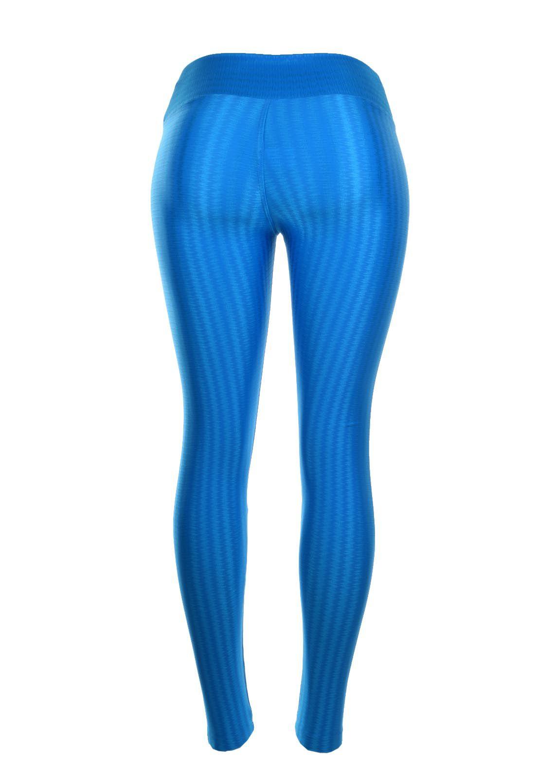 Legging OutletDri Fitness Cós Transpassado Azul Celeste