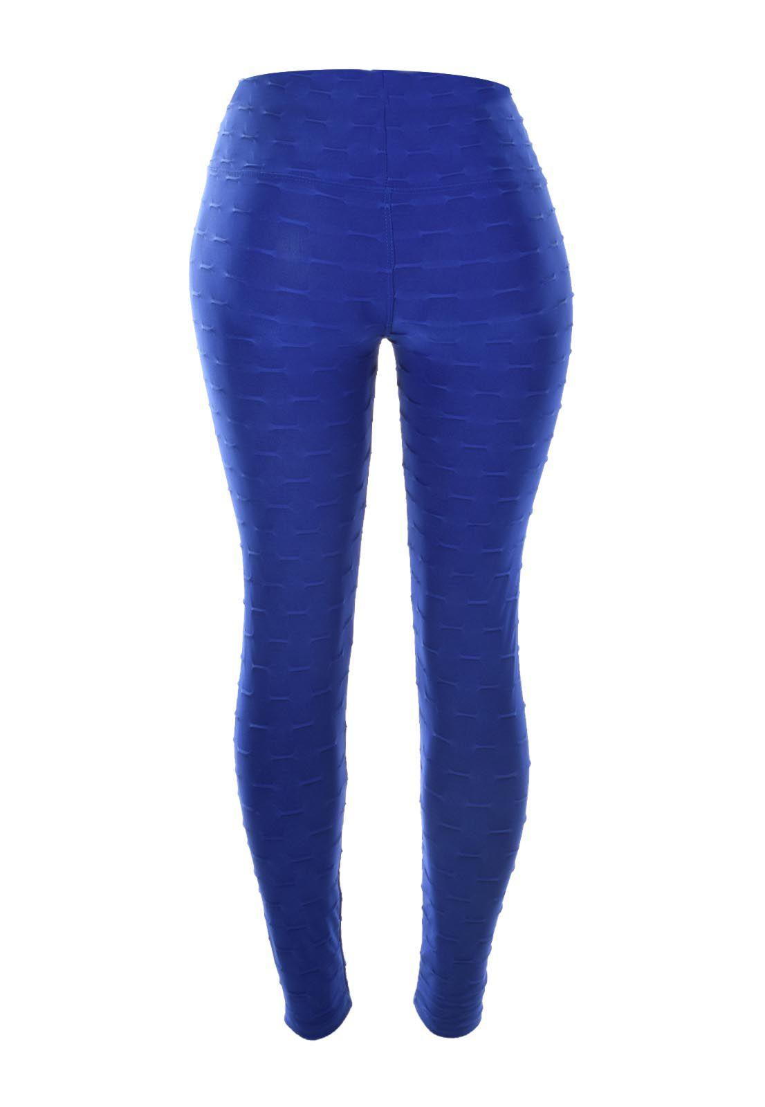 Legging OutletDri Fitness Detalhe Em Relevo Azul