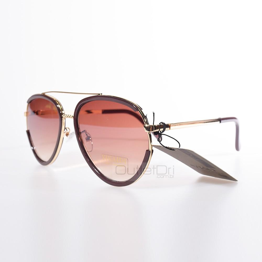 Óculos de Sol Aviador Dourado