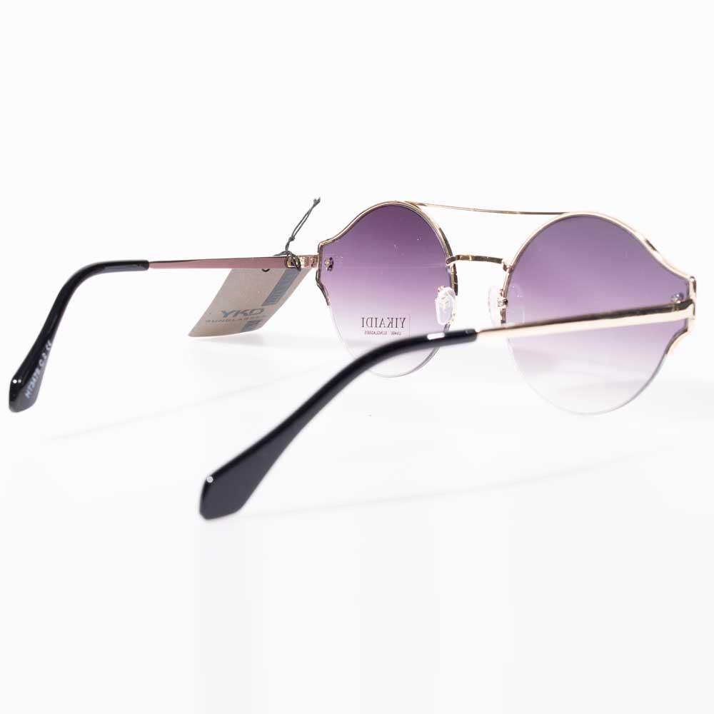Óculos de Sol Aviador Dourado Detalhe Dupla Aresta
