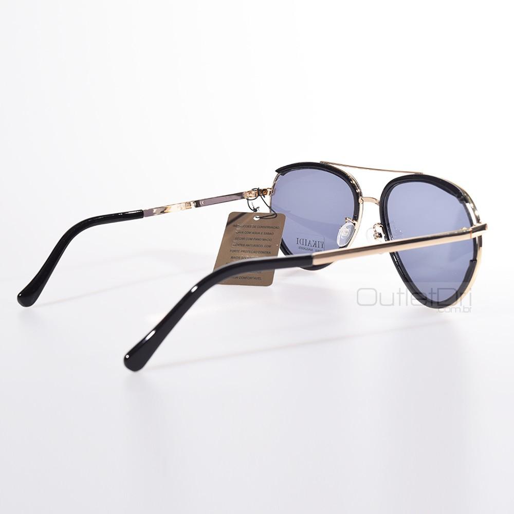 Óculos de Sol Aviador Dourado Lente Escura