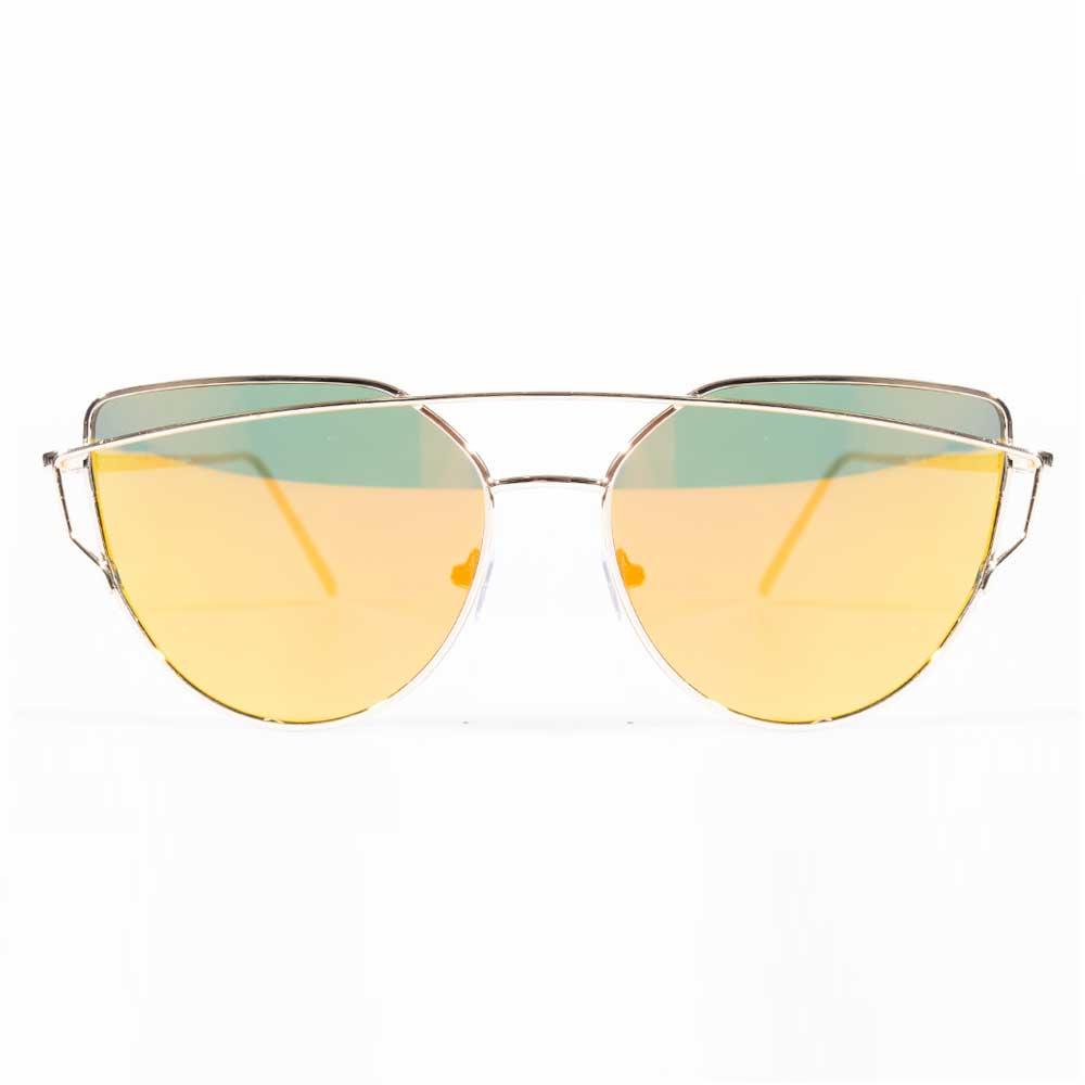 Óculos de Sol Gatinho Charme Degradê Dourado