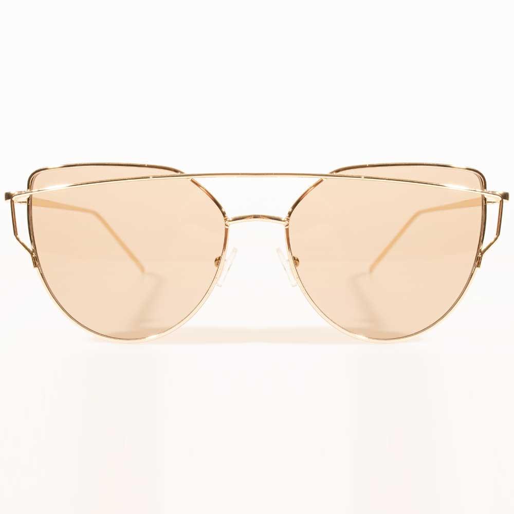 Óculos de Sol Gatinho Charme Dourado
