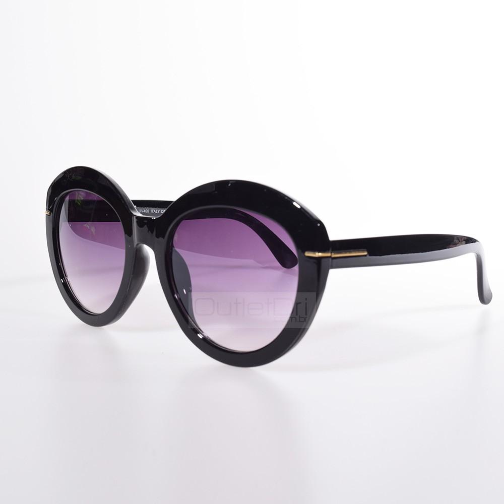 Óculos de Sol Gatinho Charme Preto