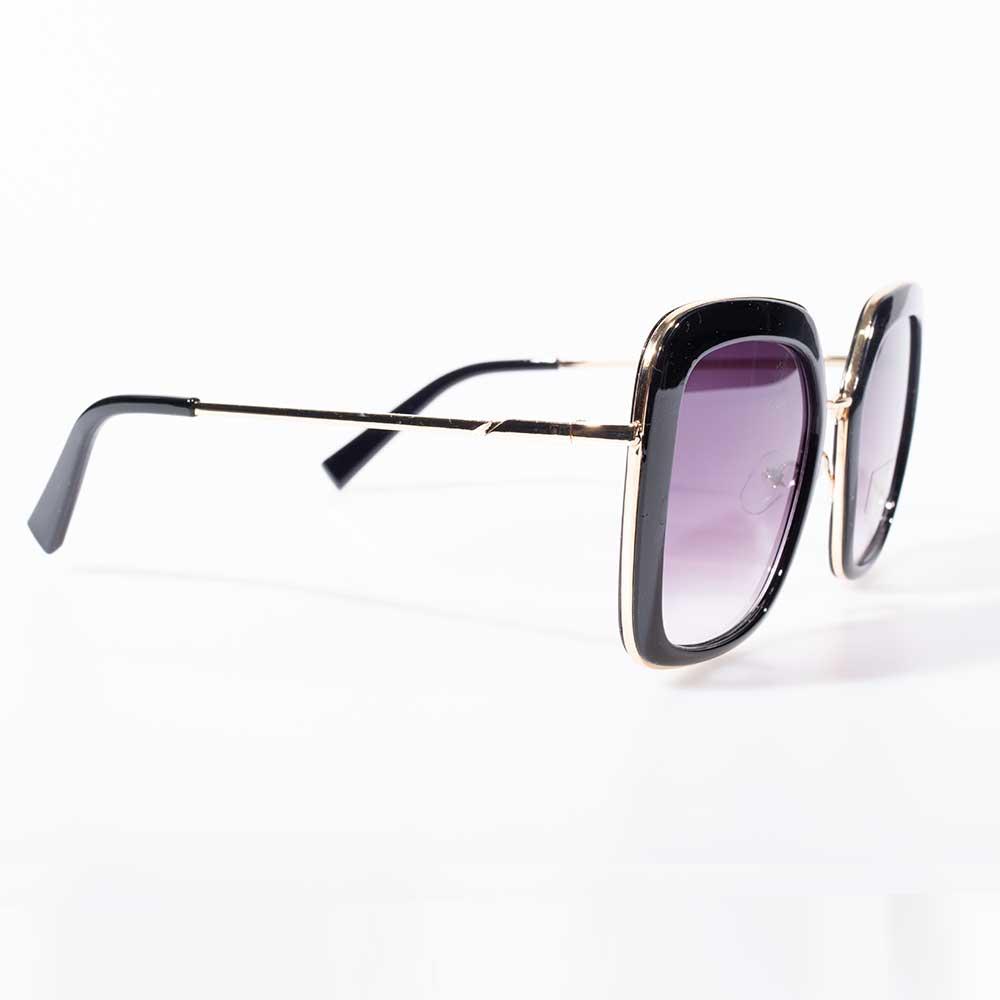 Óculos de Sol Lente Quadrada Laura Lente Degradê Preto