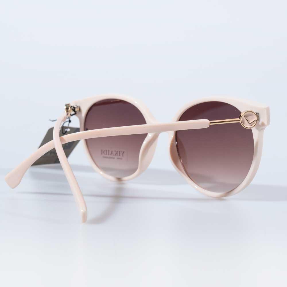 Óculos de Sol Redondo Austrália Armação Creme