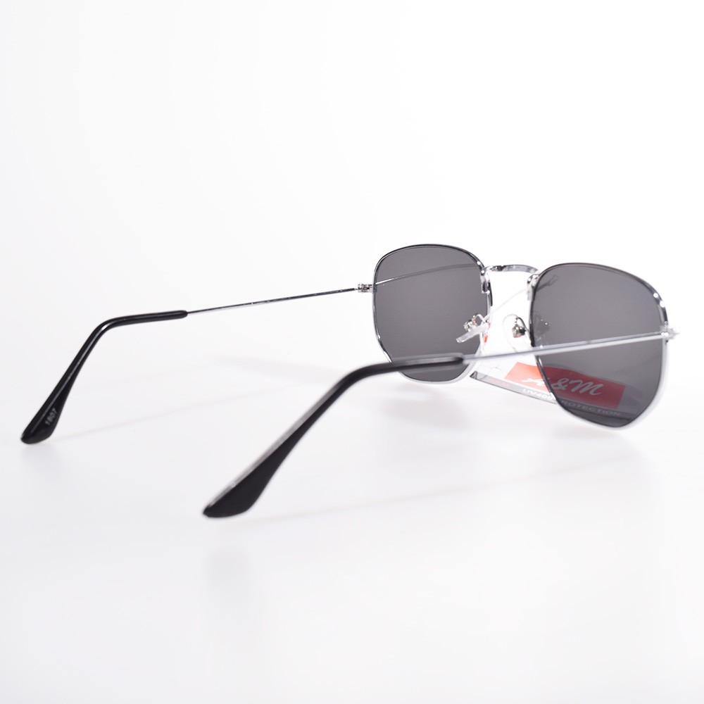 Óculos Hexagonal Britney Prateado