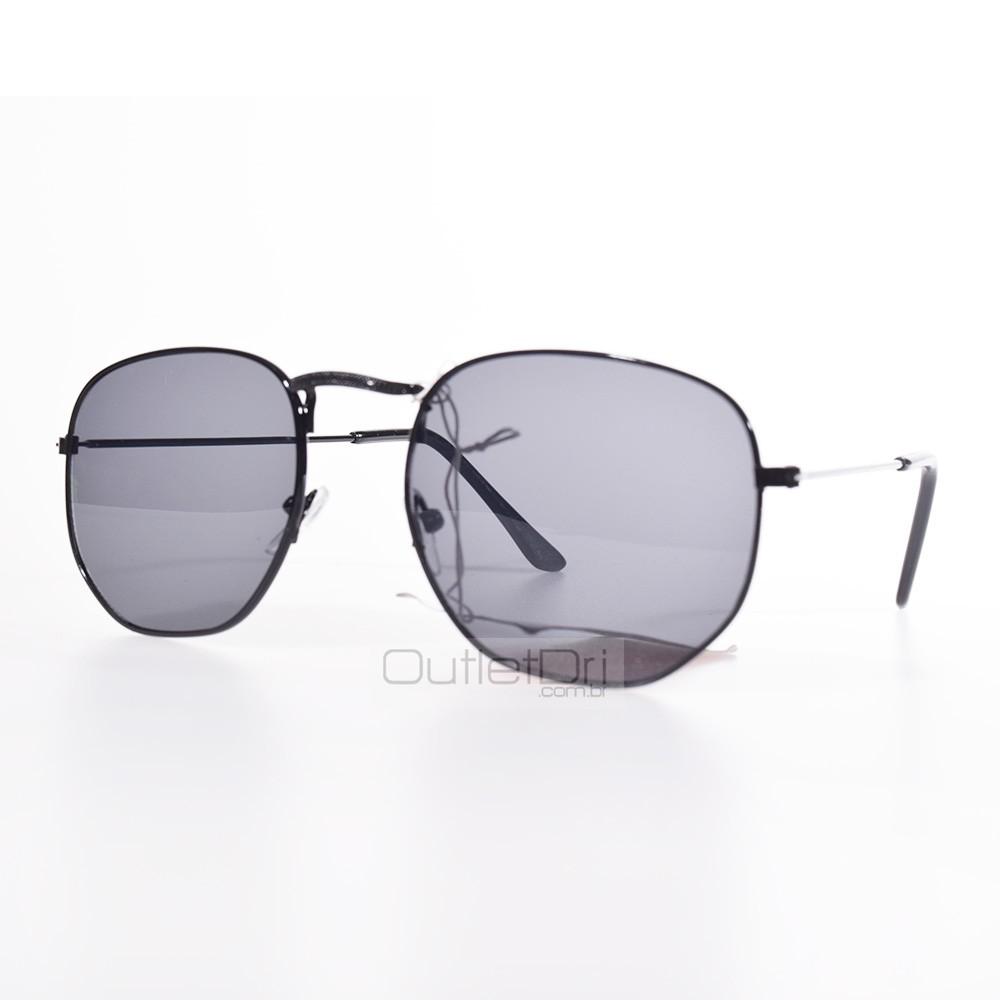 Óculos Hexagonal Britney Preto