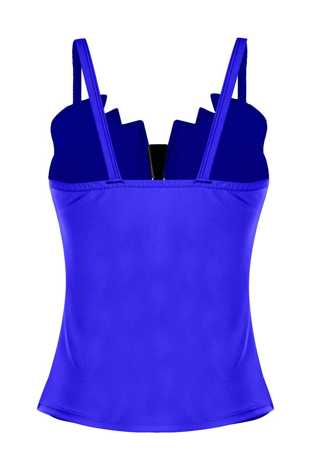 Regata OutletDri Suplex Alcinha Detalhe Gola Detalhe Fivela Metal Azul Royal