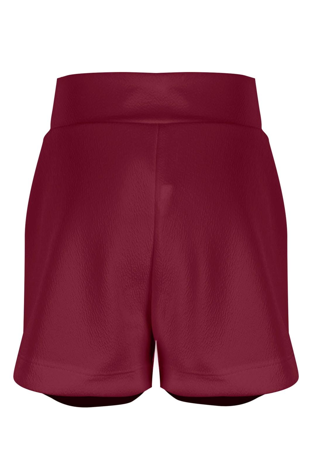 Short Outlet Dri Infantil Crepe Curto Clochard Vinho