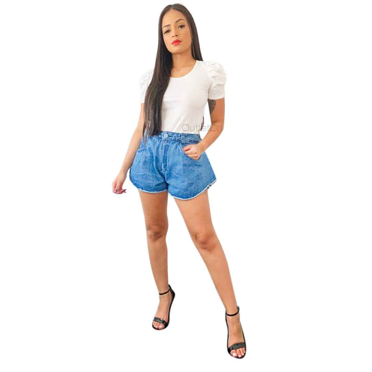 Shorts Feminino Jeans Godê Lançamento Primavera Verão