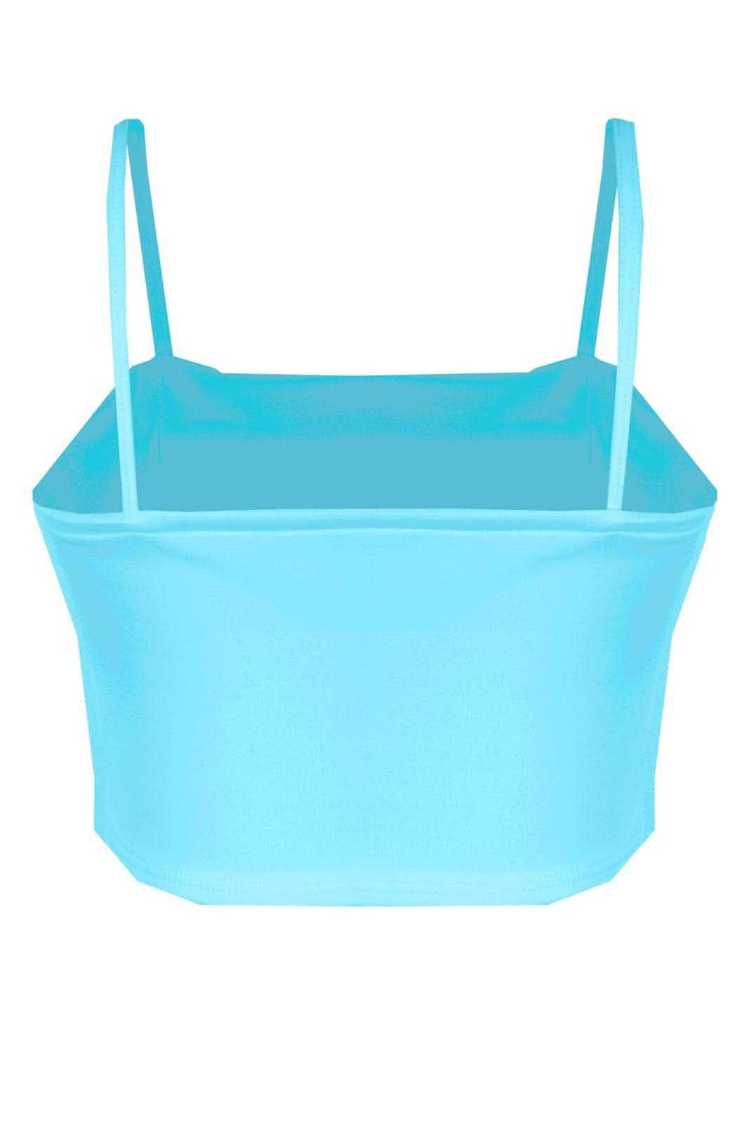 Top Outlet Dri Cropped Básico Alcinha Neoprene Bojo Azul Bebê