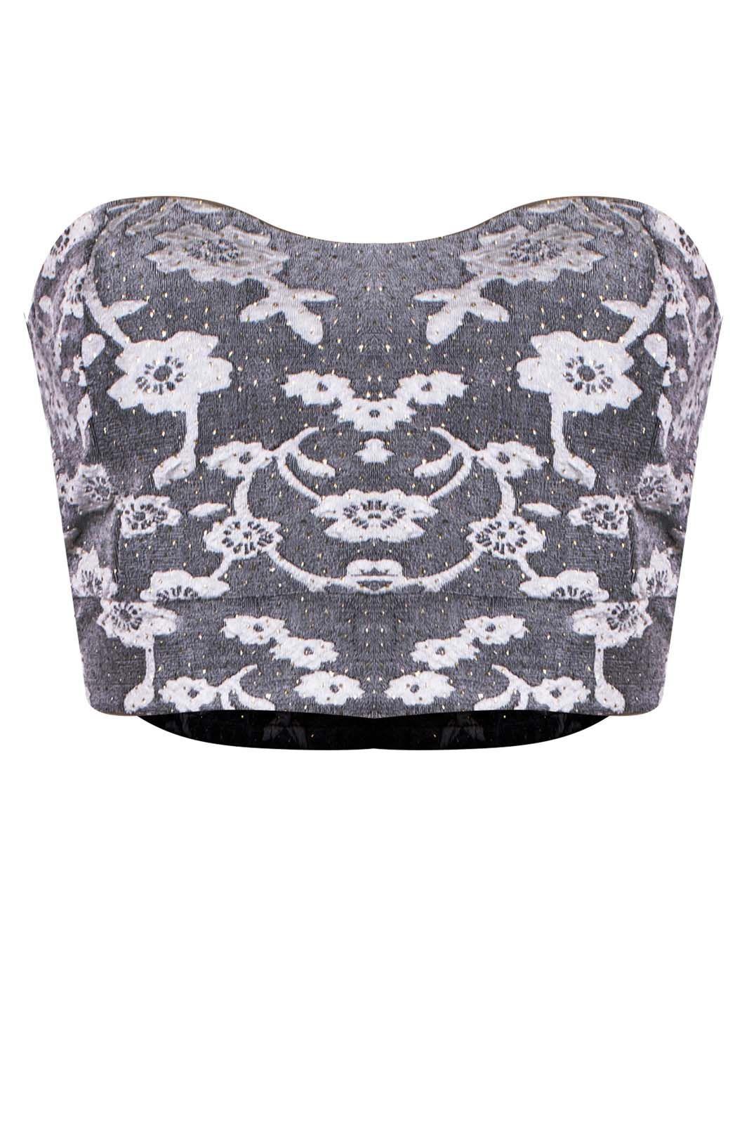Top Outlet Dri Cropped Microtop Cigana Tomara Que Caia Jackar Floral Branco