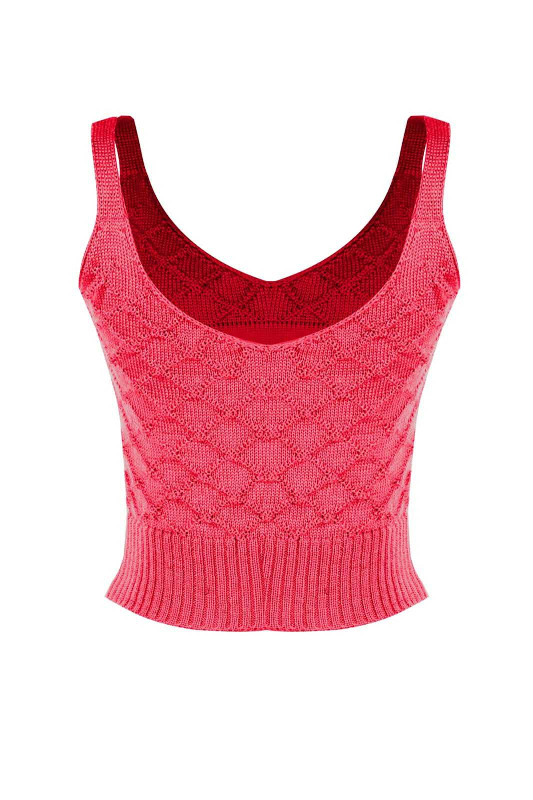 Top Outlet Dri Cropped Tricot Estampado Estampa DimDimDim Pink