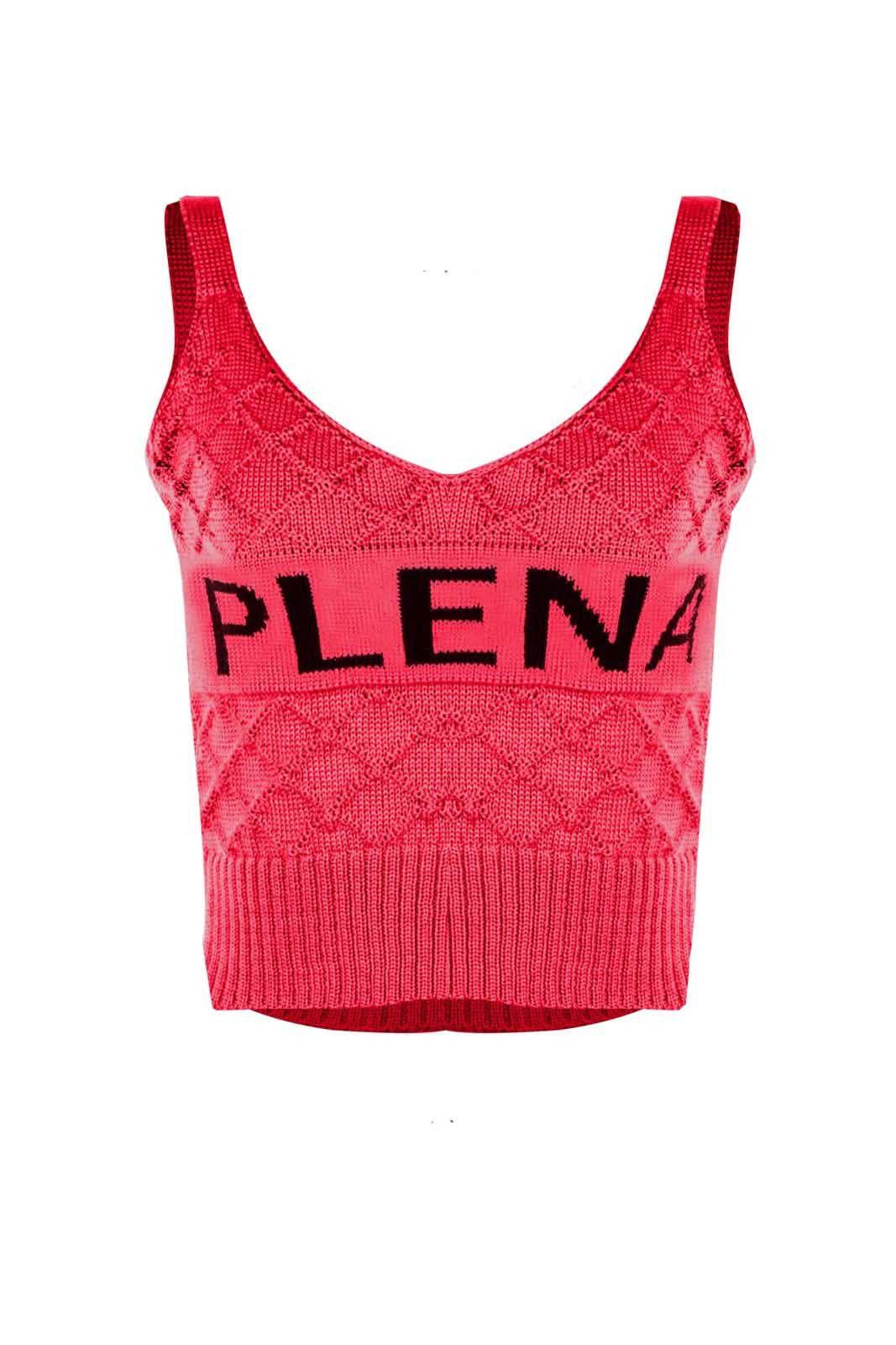 Top Outlet Dri Cropped Tricot Estampado Estampa Plena Pink