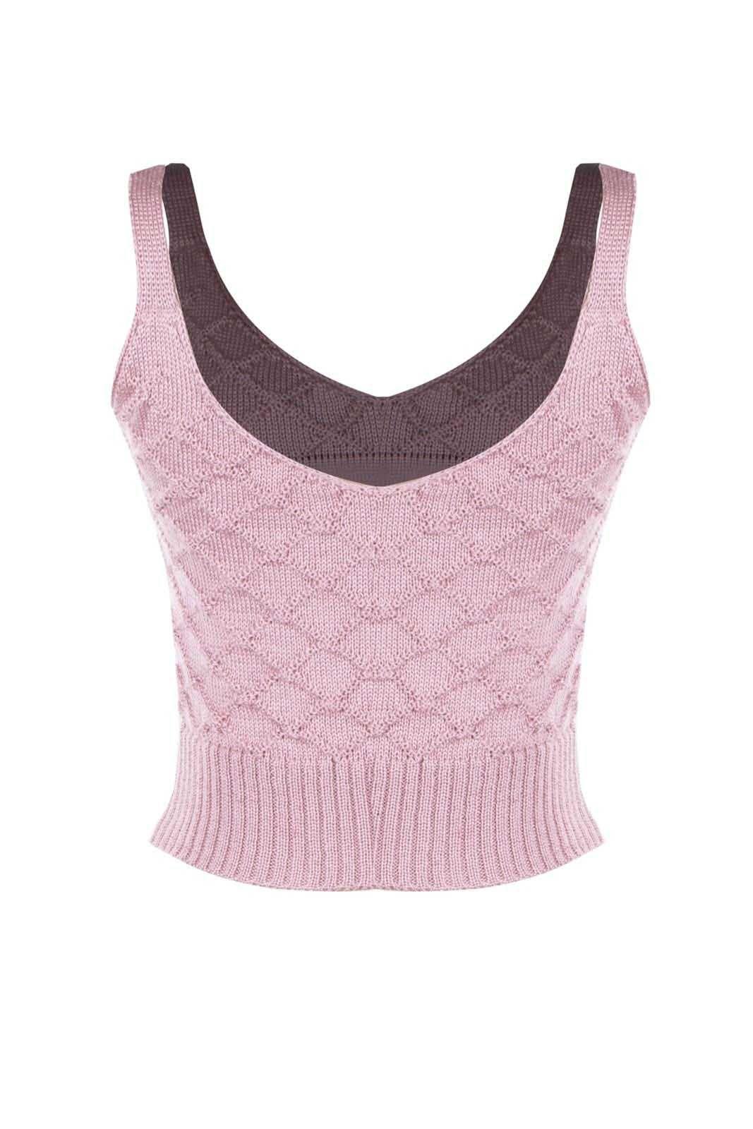 Top Outlet Dri Cropped Tricot Estampado Estampa Segue o Baile Rosê