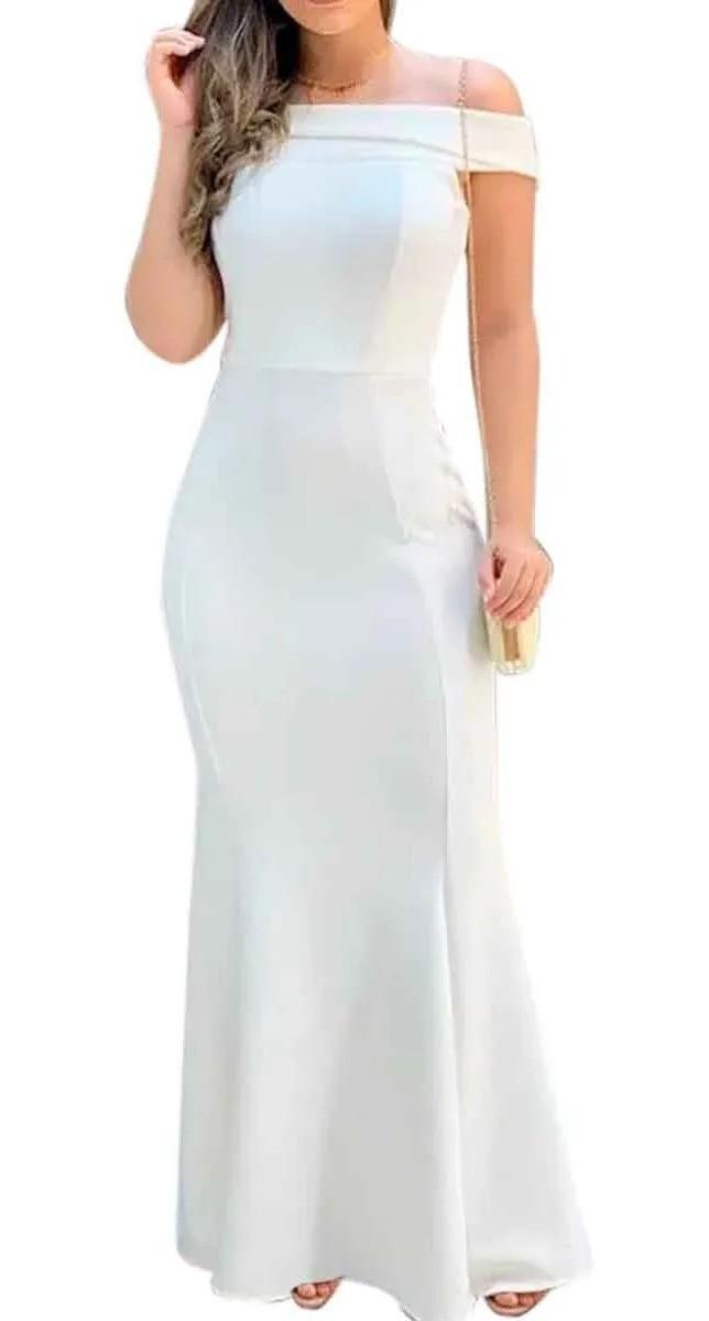 Vestido Longo Festa Sereia Madrinha Casamento Elegante