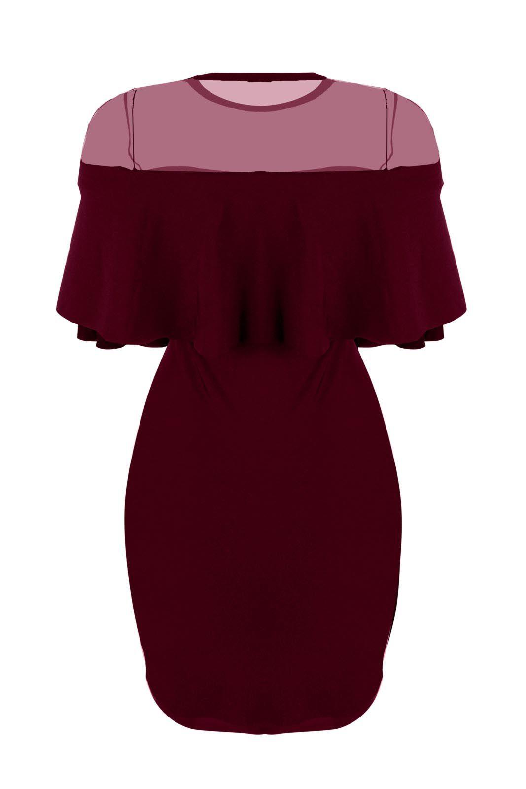 Vestido Outlet Dri Curto Cigana Manga Curta Suplex Decote Tule Fechado Rosa