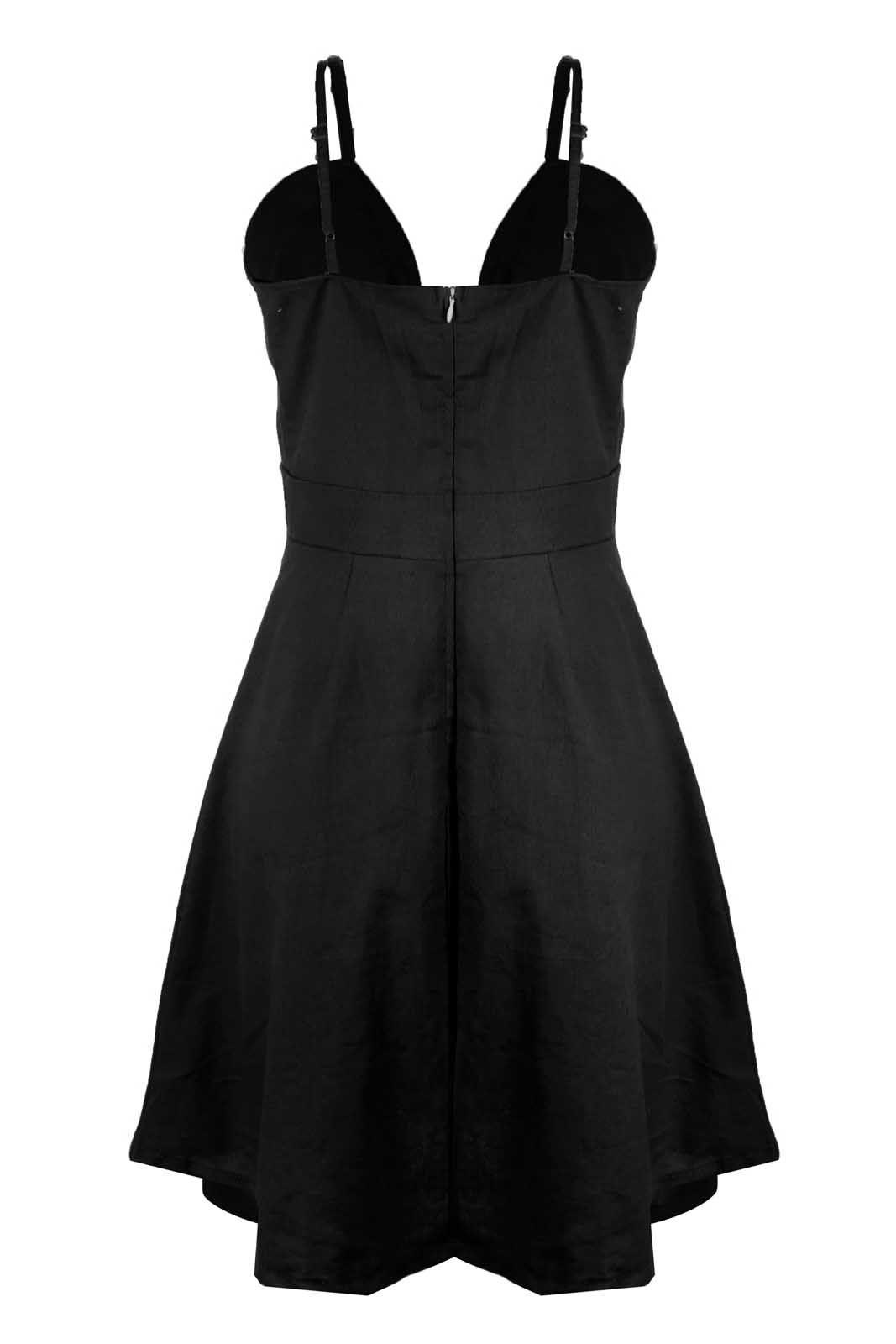 Vestido Outlet Dri Rodado Linho Botões Frontais Cores Primavera Verão Preto