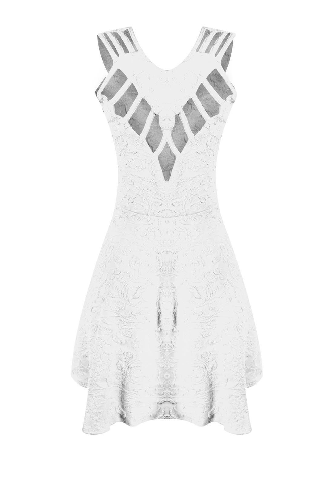 Vestido OutletDri Pérolas Branco