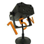 Laser Projetor Holográfico natalino 15w Stage Lighting Slim (Tecnologia Epson)