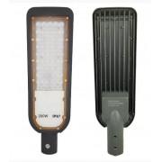 Luminária Led Smd 200w Iluminação Publica Poste Ip67 Cinza