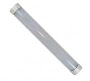 Luminária Tubular de Led Sobrepor Led Slim Calha ho 18w branco frio 60cm