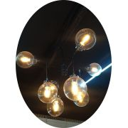 Lustre Pendente Esferas Acrílico Abstrato 1168-8