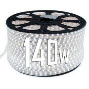 Mangueira Chata 140w / Bi-Volt Ultra Intensidade A prova d'água LED Branco Frio Rolo 100m
