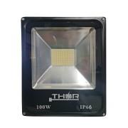 Refletor 100w Smd led 6500k Branco Frio Bivolt IP66 Resistente a chuva