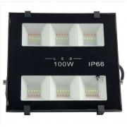 Refletor LED 100w RGB Colorido Microled SMD IP66 Bivolt