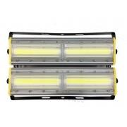 Refletor Led (GOLD) Modelo 2021 Flood light Linear 400w IP68 Duplo Dois Módulos Direcionável (Tecnologia Militar)