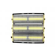 Refletor Led Modelo 2021 Flood light Linear 600w IP68 Duplo Três Módulos Direcionável (Tecnologia Militar)