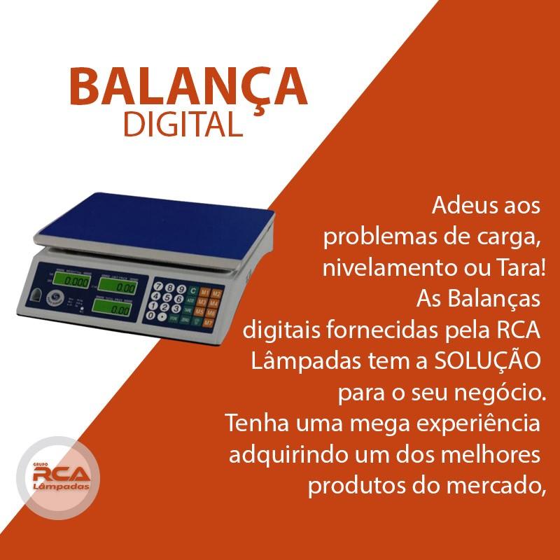 Balança Digital com marcador de preço Alta Precisão 40 Kg Bivolt e Recarregável