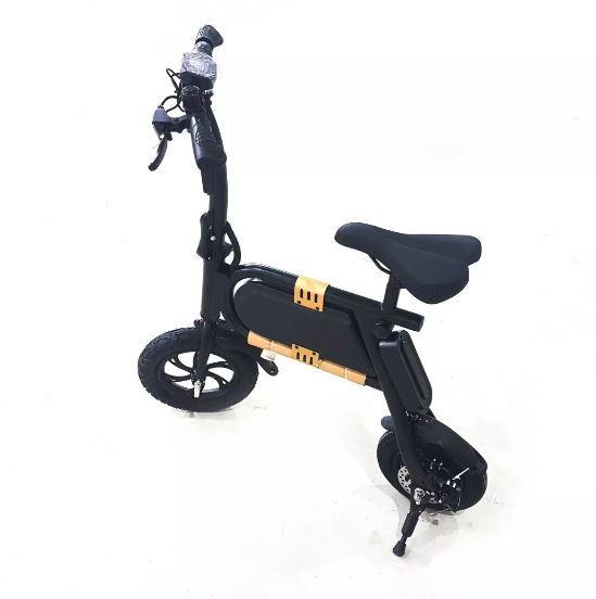 Bicicleta Elétrica Bateria Smart Dobrável 250w Pequenas Ranhuras