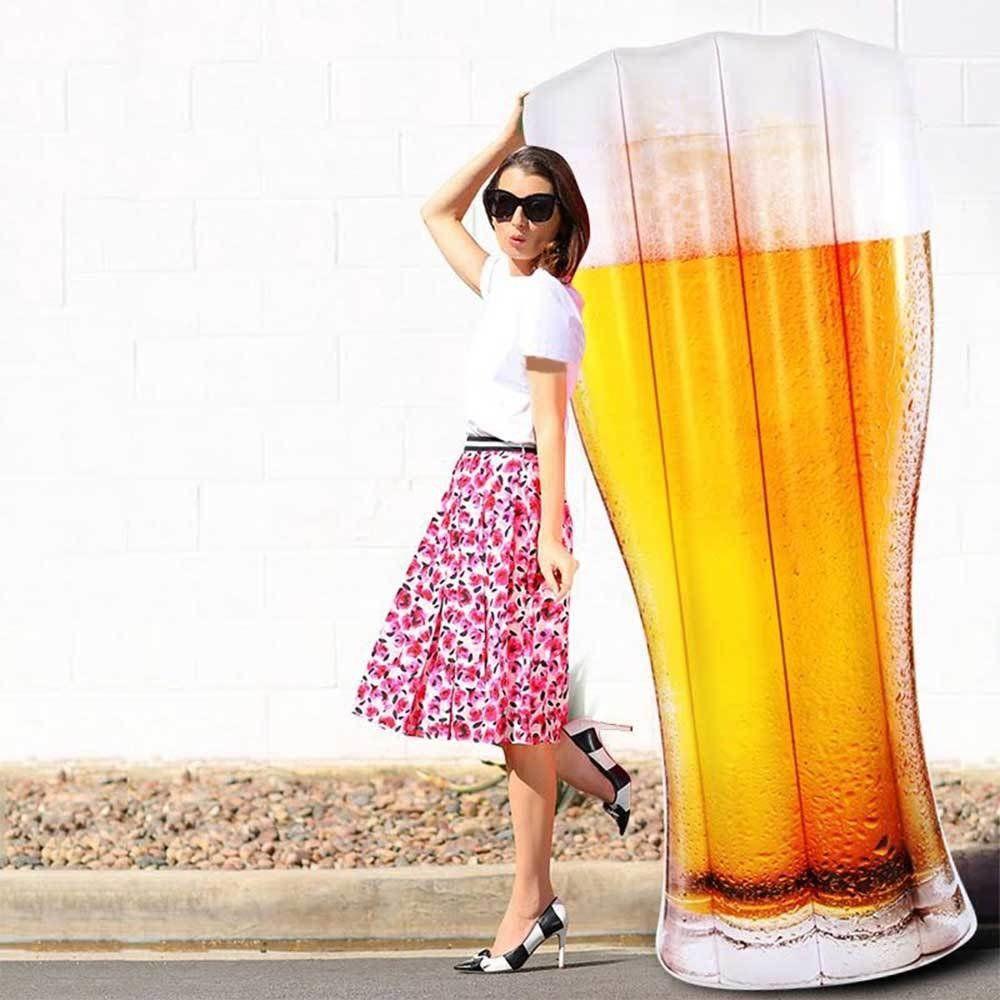 Boia inflável gigante - copo cerveja