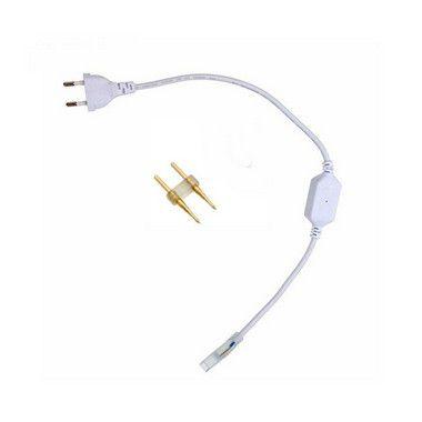 Conector Plug Tomada bivolt Fonte Bivolt para Mangueira RGB com funções