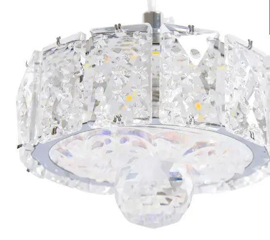 Lustre Cristalizado 4 Esferas  8029 - Branco Frio