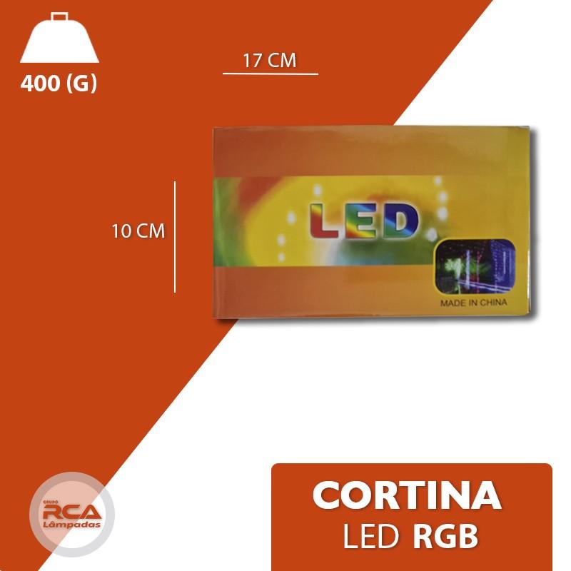 Cortina Cascata 300 Leds RGB colorida com funções 3x3 Metros Bivolt