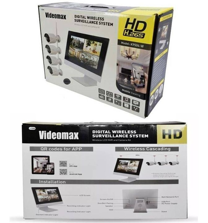 Dvr Câmera Com Monitor Sem Fio Hd Wireless Kit 4 Câmeras