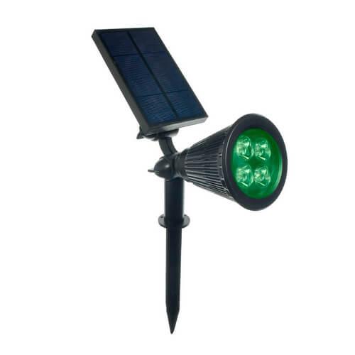 Espeto de Jardim LED Solar 10W Verde