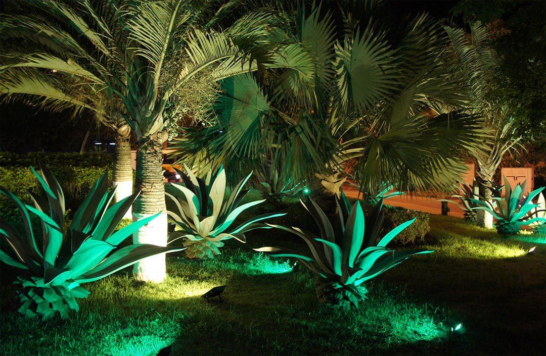 Espeto De Led 7w Para Jardim - Luz Verde - Bivolt
